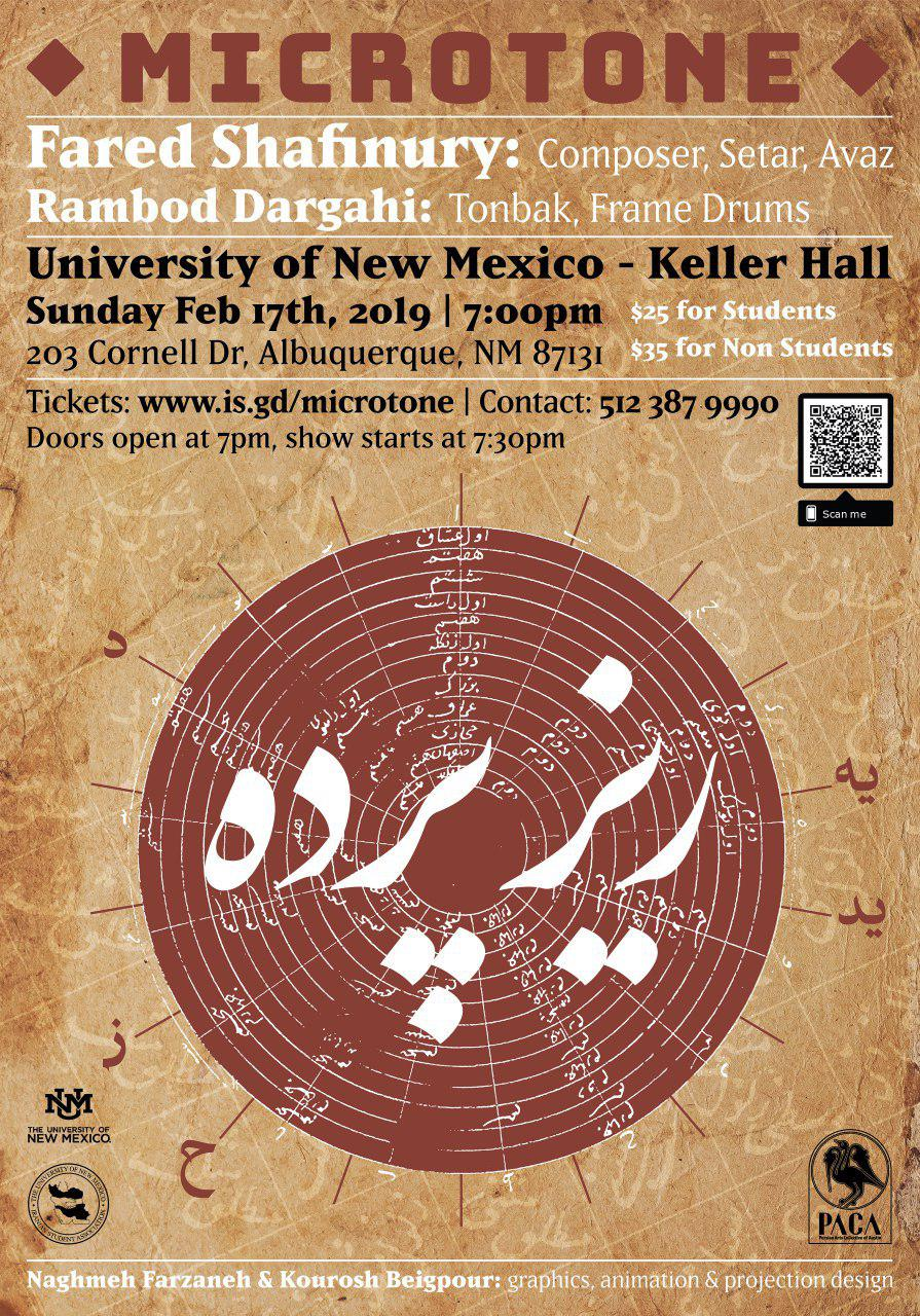 Microtone concert in Albuquerque Keller Hall. February 17, 2019.